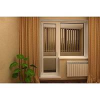 Балконный блок (дверь и окно) из 3-хкамерного профиля WDS Classic