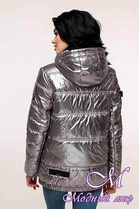 Женская весенняя куртка фольга (р. 44-54) арт. 12-37/5-11, фото 2