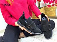 ХИТ ПРОДАЖ!! Ботинки туфли женские. Натуральный Замш. Весна-осень 2020. Арт.1633, фото 1