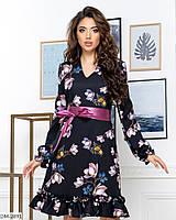 """Платье женское с 3D принтом (42, 44, 46, 48) """"MAISKAYA"""" недорого от прямого поставщика"""