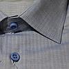 Мужская рубашка голубого цвета с рисунком, фото 2