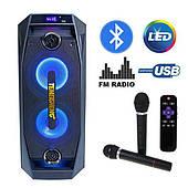 Акустическая система караоке Temeisheng TMS-802 BT\SD\USB 2 Беспроводных микрофона, Светомузыка, Мощность 250