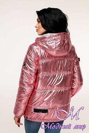Весенняя женская куртка фольга (р. 44-54) арт. 12-37/7-5А, фото 2