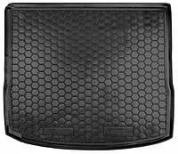 Коврик в багажник для Ford Focus (2011-) (универсал) (с докаткой) ( пластик ) ( Avto-Gumm )