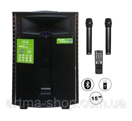 Акустическая система Tеmeisheng QX-1521 ORIGINAL (BT+USB+SD) 2 микрофона Мощность 250 Ваттсть