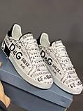 Мужские кеды Dolce & Gabbana D9332 белые, фото 5