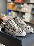 Мужские кеды Dolce & Gabbana D9332 белые, фото 2