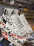 Мужские кеды Dolce & Gabbana D9332 белые, фото 4