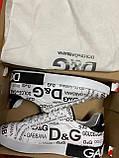 Мужские кеды Dolce & Gabbana D9332 белые, фото 9
