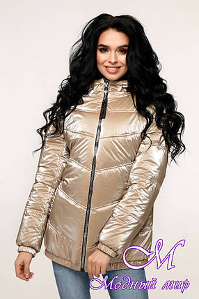 Демисезонная женская куртка фольга (р. 44-54) арт. 12-37/9-100, фото 2