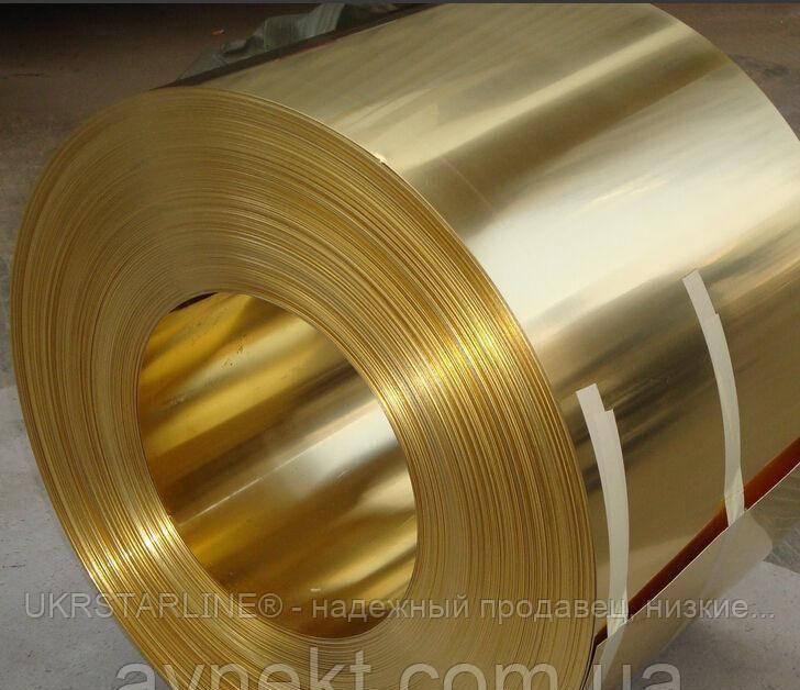 Лента латунная 0,8х55 мм Л63 твёрдая, мягкая
