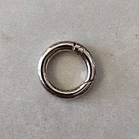 Кольцо-карабин 19 мм никель