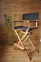 Стул для визажиста, складной, деревянный, стул режиссера, стул для фото сессии, цвет - орех.