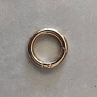 Кільце-карабін 19 мм світле золото
