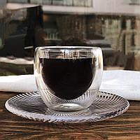 Оригинальные стаканы с двойной стенкой для эспрессо/Чашка для эспрессо/Стаканы double wal l/Термостакан, 80 мл