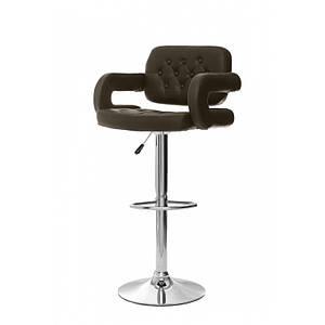 Барное кресло Винчи (BS-1233WIN) Коричневое, стул визажиста