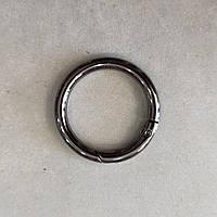 Кольцо-карабин 31 мм черный никель