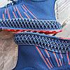 Сині шкарпетки чоловічі кросівки в стилі Adidas yeezy boost v2 шкарпетки на підошві тканина текстиль сітка, фото 3
