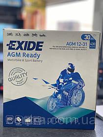 Мото аккумулятор EXIDE AGM12-31
