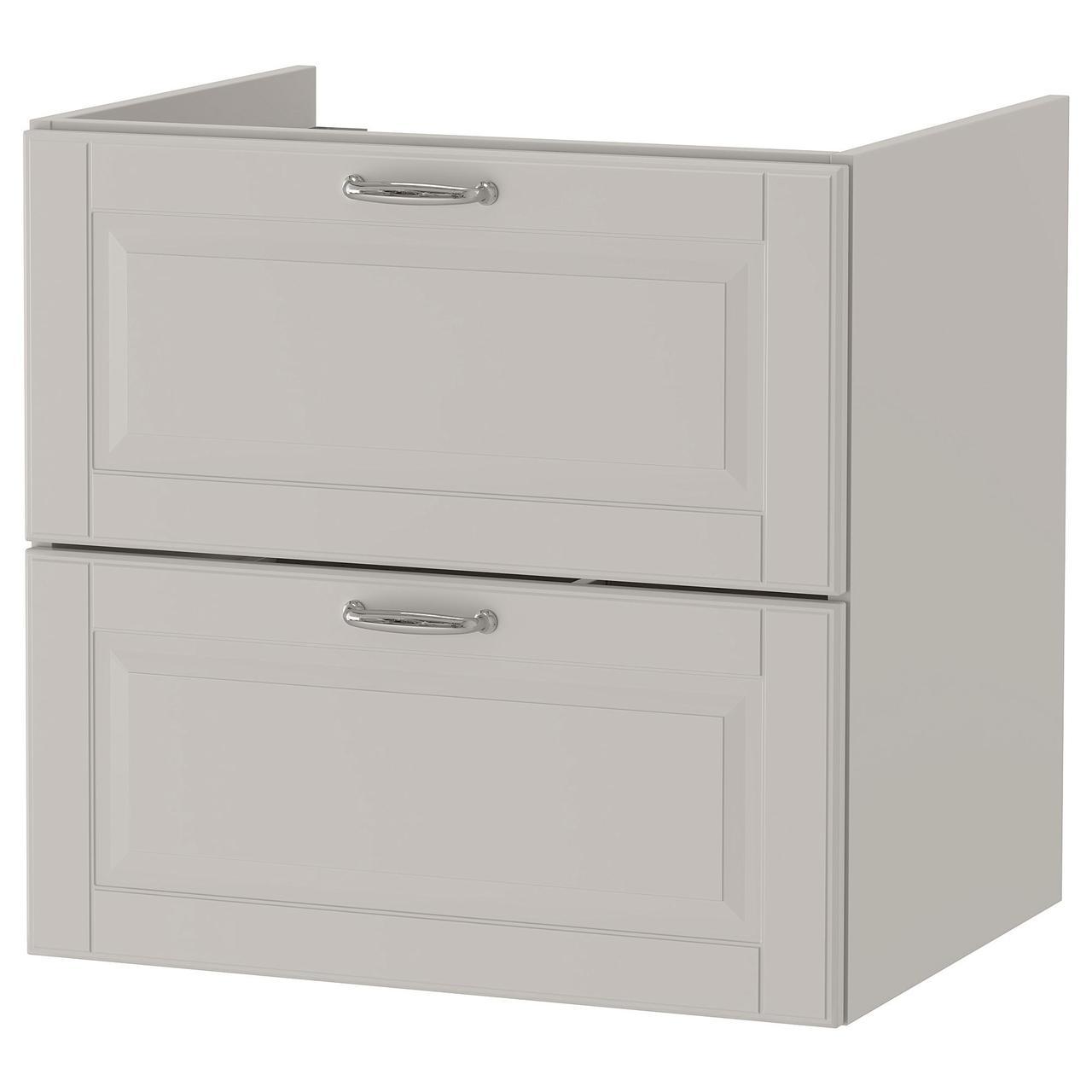 Шкаф для раковины с 2 ящиками IKEA GODMORGON Кашён светло-серый 60x47x58 см 103.876.28