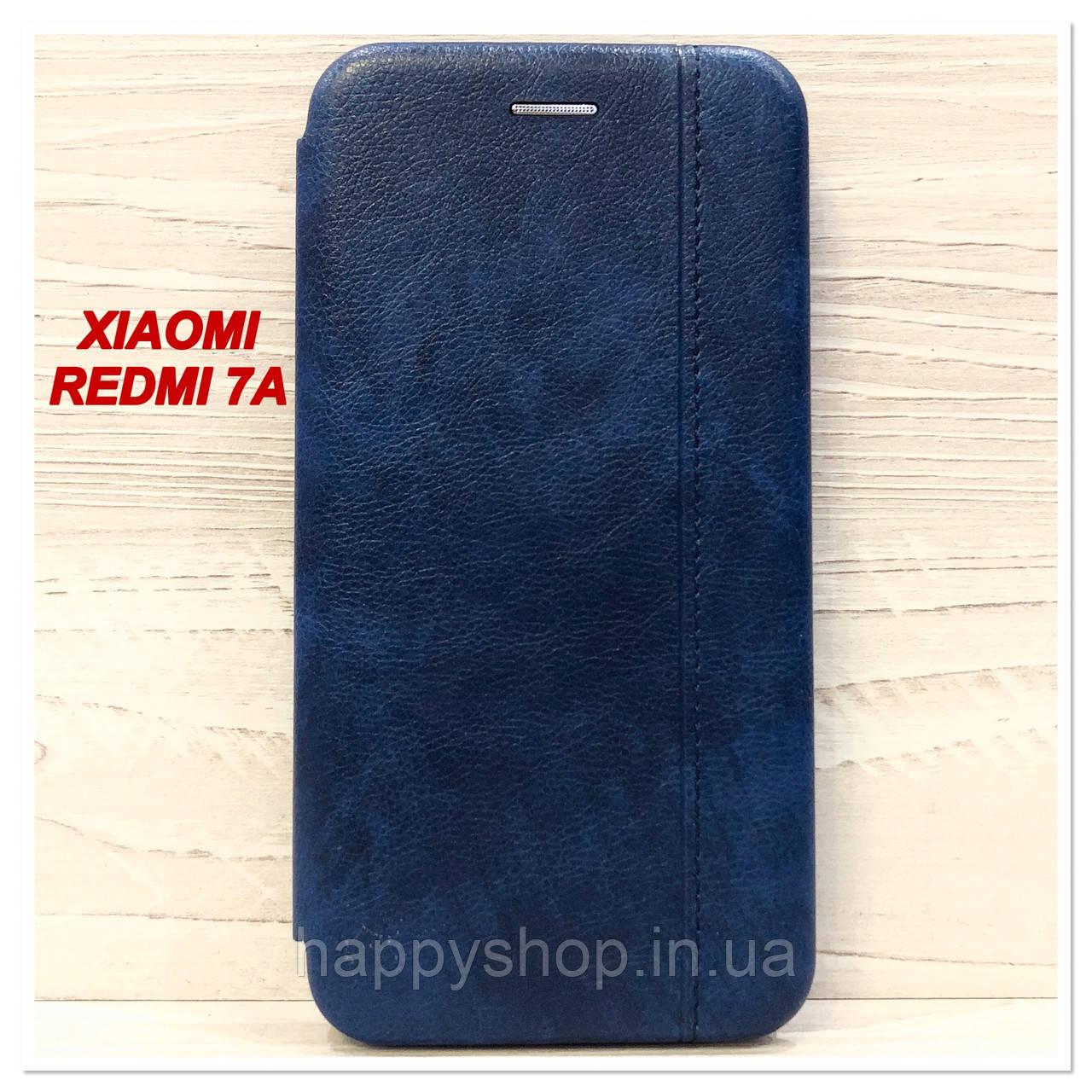 Чехол-книжка Gelius Leather для Xiaomi Redmi 7a (Синий)