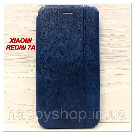 Чехол-книжка Gelius Leather для Xiaomi Redmi 7a (Синий), фото 2