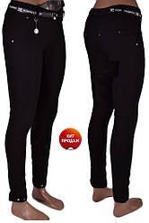 Стильные женские черные брюки (р 25-30)