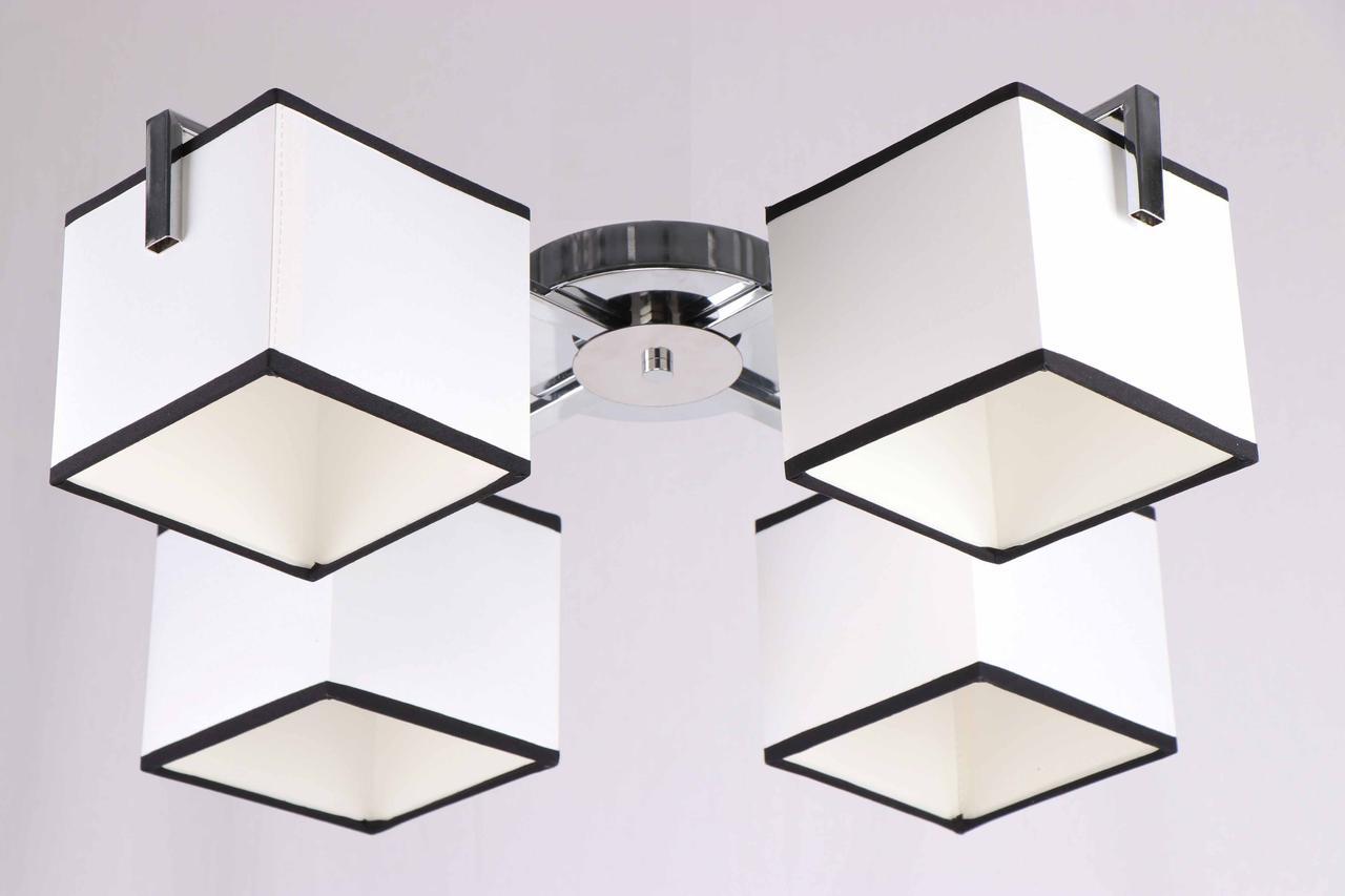 Люстра потолочная на 4 лампы 29-K202/4 CR+WT(1шт) E27 TK
