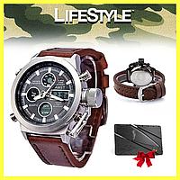 Мужские наручные часы AMST / Армейские тактические часы + Нож-кредитка в Подарок