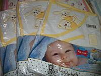 """Детское полотенце с капюшоном и рукавичкой """"Bebissimo""""! В подарок мыло! Турция, фото 1"""