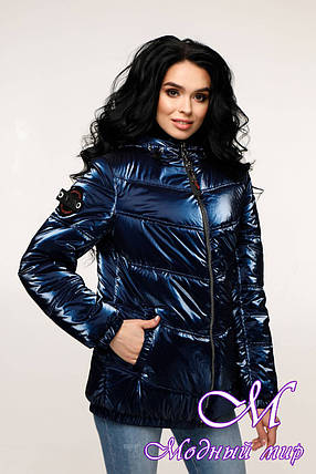 Модная демисезонная куртка фольга (р. 44-54) арт. 12-37/14-8, фото 2