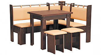 Кухонный уголок Гетьман с раскладным столом и табуретами