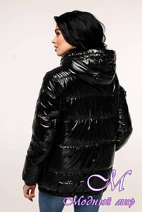 Лакированная демисезонная куртка (р. 44-54) арт. 12-37/16-3, фото 2