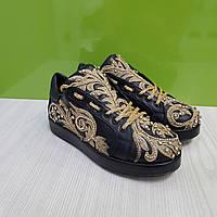 Кросівки Camuzares чорні/вишивка 40