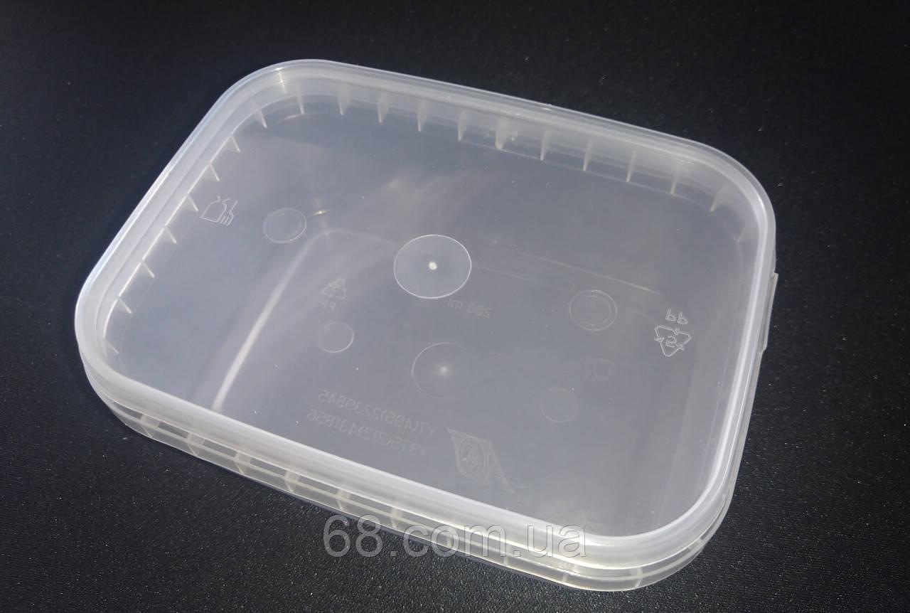 Коробка органайзер контейнер кассетница для дрібних деталей риболовлі прямокутна 280мл
