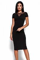L | Облягаюче класичне плаття Valia, чорний