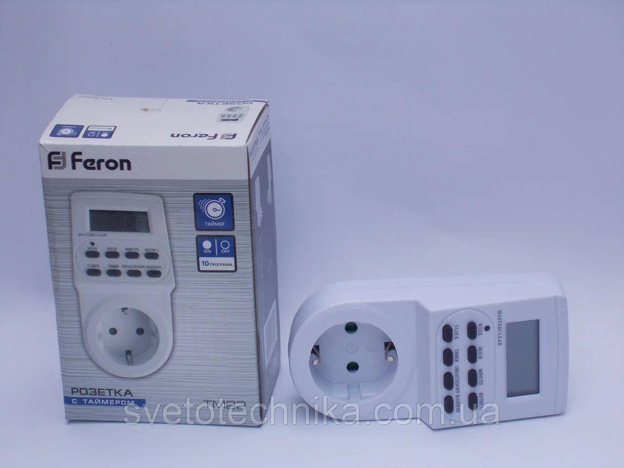 Розетка с таймером электронная  Feron TM22