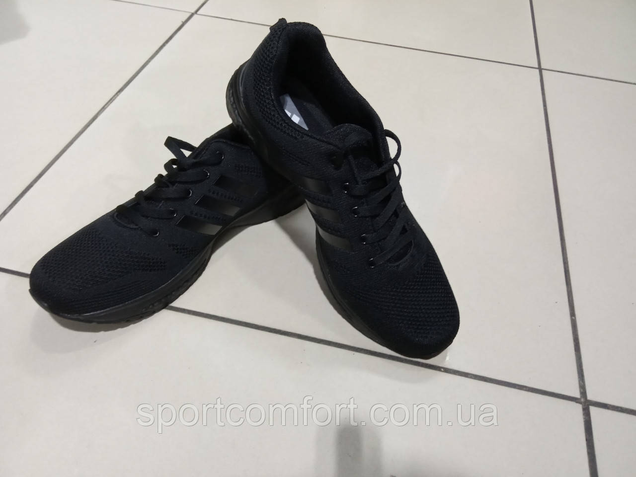 Кроссовки великаны чёрные сетка Adidas