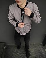 Ветровка мужская весенняя осенняя / куртка бомбер Street x grey