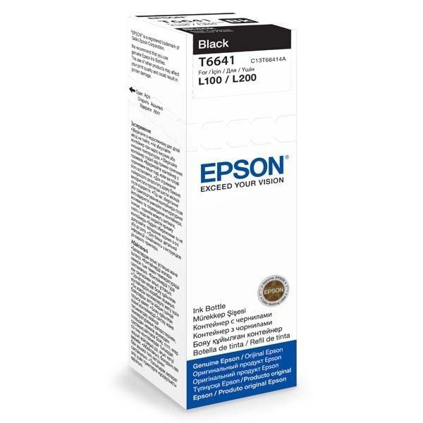 Чернила EPSONL 100/L110/L300/L200/L210 black T6641(C13T66414A)