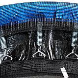 Батут диаметром 312 см оснащен 60 оцинкованными пружинами с сеткой и нагрузкой до 120 кг синий + лестница, фото 3