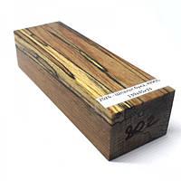 Стабилизированная древесина брусок Шпальт бука  КРИЛАТ 139х45х33
