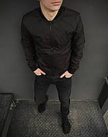 Ветровка мужская весенняя осенняя / куртка бомбер Street x black
