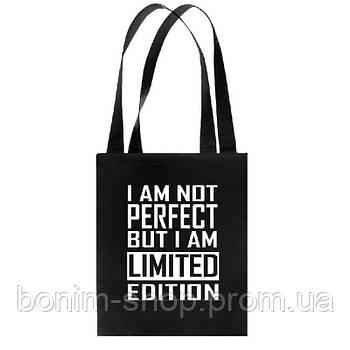 Сумка с принтом I am not perfect