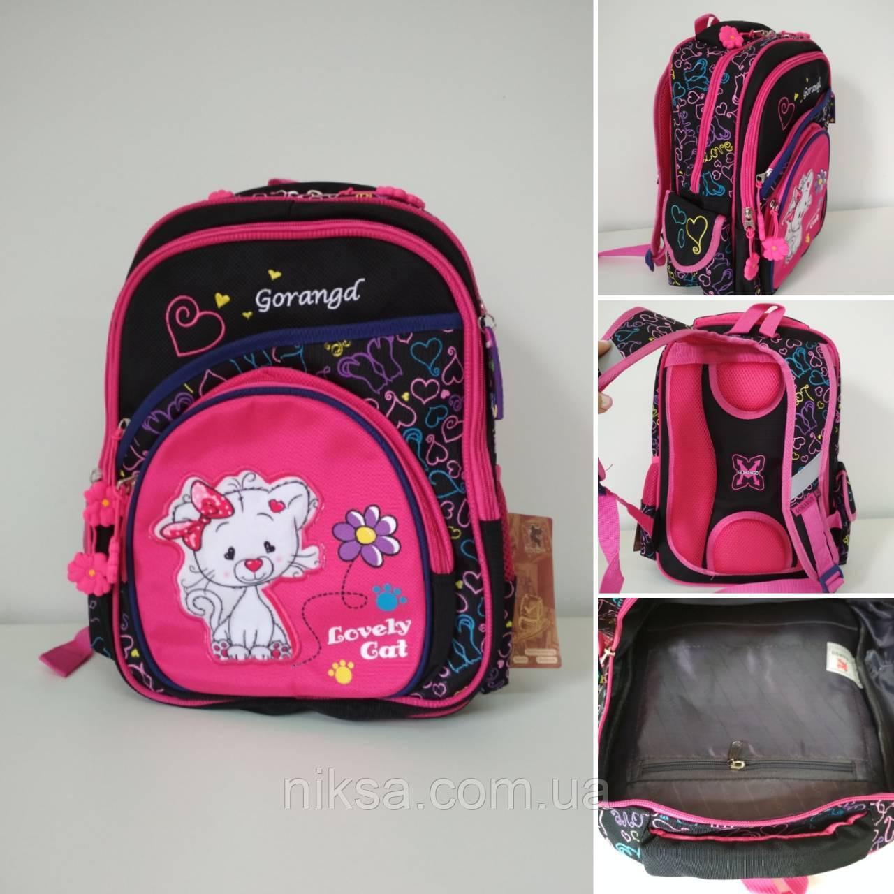 Рюкзак для девочек, кошка хорошее качество фирма Gorangd размер 38х26х19