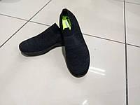 Кроссовки чёрные сетка без шнурков navigator