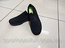 Кросівки( розмір 43 і 44) чорні сітка без шнурків navigator