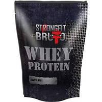 WHEY PROTEIN StrongFit BRUTTO Сывороточный протеин + урсуловая кислота, БАНАН 0.909 кг