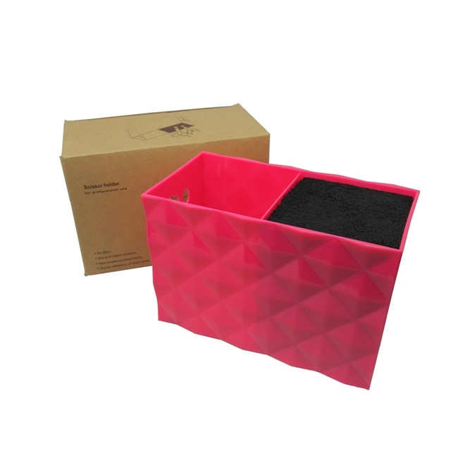 Подставка двойная для парикмахерских ножниц и инструментов SPL 21123, розовая