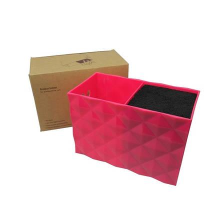 Подставка двойная для парикмахерских ножниц и инструментов SPL 21123, розовая, фото 2